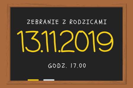 Zebranie z rodzicami 13-11-2019